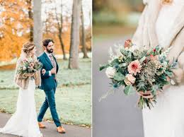 a charlie brear bride and her rustic autumn barn wedding in southport autumnal wildflowers and