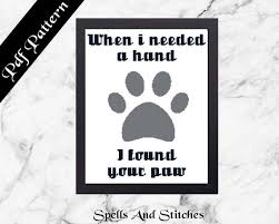 Dog Best Friend Quotes Amazing I Found Your Paw Dog Cross Stitch Pattern Family Dog Quotes Etsy