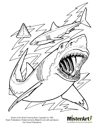 Small Picture Shark Coloring Pages Coloring Kids Color Online Image 1 of 15