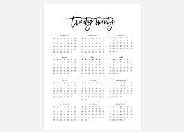 2020 calandars printable 2020 calendar simple calendar 2020 year calendar 2020 calendars 2020 planner wall calendar letter calendar 2020 at a glance