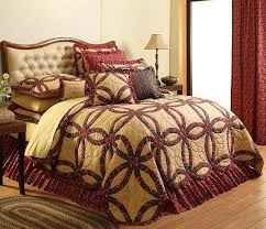 14 best Bedding images on Pinterest | 3/4 beds, Bedroom and Black ... & Oversized King Size Bedding 126X120 | The Royalton is designed with hand  quilted rings of burgundy Adamdwight.com