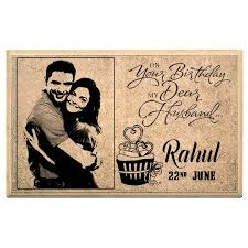 happy birthday hub personalised plaque at best s in india customized gifts for husband