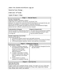 Osmosis and Diffusion: Egg Lab Lesson Plan for 9th - 12th Grade ...