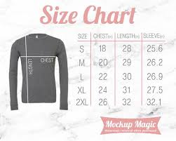 Bella Canvas Size Chart Unisex Bella Canvas 3501 Size Chart Mockup 3501 Unisex Long Sleeve Jersey Tee Dark Grey Heather Pink Text And White Marble Background