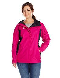 plus size columbia jackets columbia womens plus size tested tough in pink rain jacket ii plus