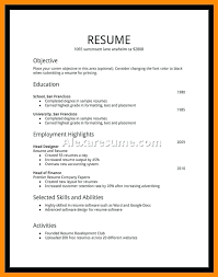 Format For Resumes For Job Resume Job Title For First Sample College Students Resumes Jobs