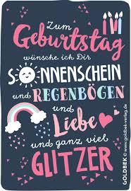 Postkarten Geburtstag Mit Ganz Viel Glitzer Quotes