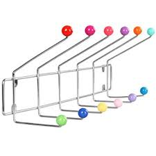 Coloured Ball Coat Rack Unique Miadomodo Hook Wall Coat Rack With 32 Hooks MultiColoured Balls