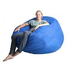 com slacker sack 5 feet foam microsuede beanbag chair jumbo royal blue kitchen dining