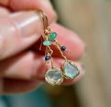 roman gl earrings in gold filled ancient sea gl earrings long beach gl dangle earrings with aventurine lapis lsuli beads israel copper jewelry