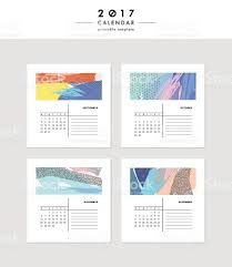 creative calendar template different textures stock 1 credit