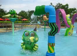 spray water game for kids frog style fiberglass aqua park equipment toys
