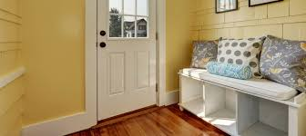 entryway storage hacks, ideas, and solutions: white storage bench with  cubbies, wheels