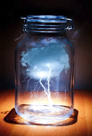 lighting in a jar. Artist Unknown, Lightening In A Bottle Reflects Mans Attempt To Control The  Elements And Prevent Them Wrecking Modern Day Society (I.e. Floods, Storms, Lighting Jar R