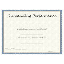 Samples Of Awards Certificates Outstanding Performance Award