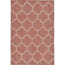 outdoor trellis rust red 4 0 x 6 0 area rug