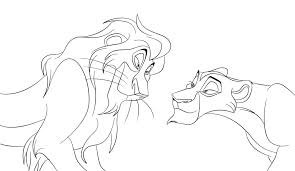 Small Picture Lion King Color Pages Simple Lion King Kovu Coloring Page With