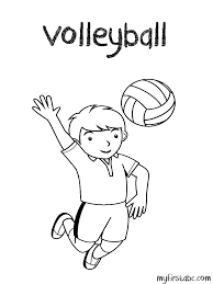Small Picture Volleyball Coloring Page My First ABC
