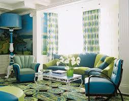 Cosy Blue And Green Living Room Easy Interior Design Ideas For Home Design