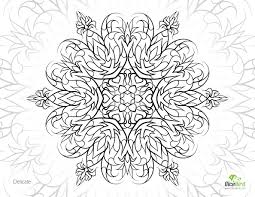 Delicate Flower Free Printable Coloring Pages