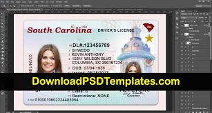 Template License Us South Psd Drivers Carolina