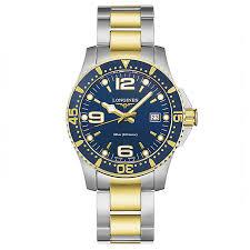 longines men s two colour blue dial bracelet watch ernest jones longines men s two colour blue dial bracelet watch product number 3448142