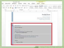 Image titled Create a Resume in Microsoft Word Step 6