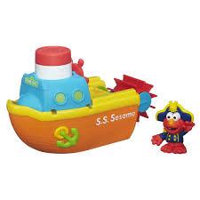 bath toys by sesame street playskool sesame street elmo bath adventure steamboat toy