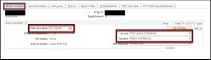 Fmla Submission And Processing In Peoplesoft 18c Hr Core