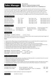 Sales Manager Resume Sample Doc