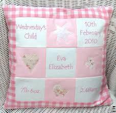 personalised pink memory cushion