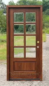 exterior glass wood door.  Door Exterior Single Doors Solid Mahogany Wood In 6u0027 8 And Glass Door D