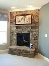 modern ideas indoor stone fireplace enchanting stacked design new in paint color interior impressive corner