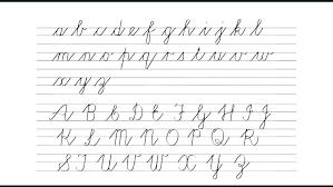 Free Cursive Sheets Handwriting Worksheets Alphabet Writing