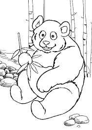 Small Picture Free Online Printable Kids Colouring Pages Panda Colouring Page