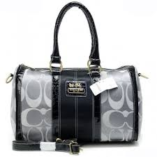 Coach In Signature Medium Grey Luggage Bags APU