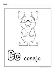 El abecedario, from the name of the first four letters, a b c d. Spanish Alphabet Coloring Pages By I Heart Books Too Tpt