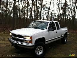 1995 White Chevrolet C/K K1500 Silverado Z71 Extended Cab 4x4 ...