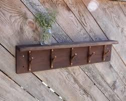 rustic coat rack with 5 tree branch hooks hallway organizer heavy duty coat rack rustic wood wall hanging coat rack
