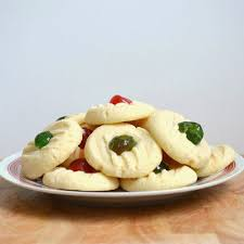 This simple dough bursts with buttery goodness and makes the perfect base for delicious cookies. Canada Cornstarch Shortbread Because I Like Chocolate Candied Cherries Recipe Christmas Recipes Easy Cookie Recipes