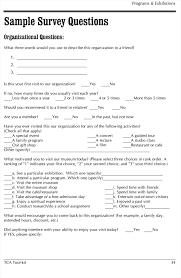 Sample Surveys Questionnaires Sample Survey Questionnaire