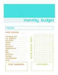 Simple Budget Template Printable Simple Budget Template Printable ...
