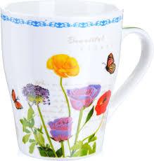 "<b>Кружка Loraine</b> ""Цветы"", цвет в ассортименте, <b>340</b> мл. 222-3 ..."