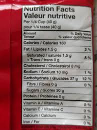 original nutrition facts original nutrition facts