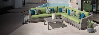 modern outdoor patiopool deck furniture green and teal cushions