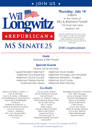 political fundraiser invite will longwitz vs charles barbour state senate 25 primary right