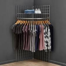 5 ft freestanding grid mesh display bundle with 2 x panels 1 x wire shelf 1 x hanging rail