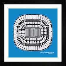 Bank Of America Stadium Carolina Panthers Stadium Seating Art Print Football Gift Scarf1616