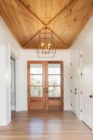 Wood doors, ship lap farmhouse. Wood plank ceiling. LOVE the ...