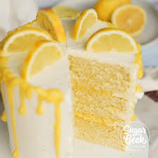 Lemon Cake Recipe From Scratch Video Tutorial Sugar Geek Show